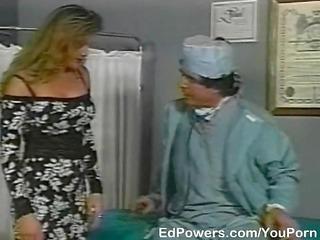 horny doctor checks patients taut backdoor
