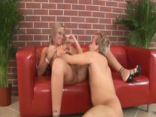 enjoyable golden-haired gal angie tastes dong