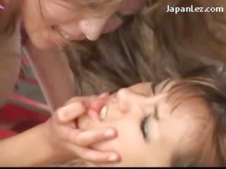 9 breasty angels fighting giving a kiss using