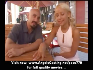 breathtaking golden-haired mommy talking with a