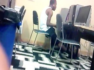 man jacking off in public computer lab -