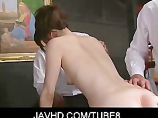 virginal looking japanese cutie hojo maki undress
