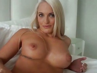 breasty golden-haired girlfriend fucking at home