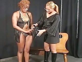 interracial tied as lesbo blo...