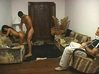 brazilian cuckold drilled in front of spouse by