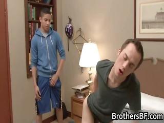 brothers sexy boyfriend acquires schlong sucked
