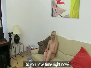 angular blondie fucking on fake casting