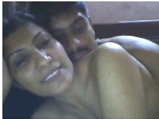 indian housewife having fun with boyfriend on cam