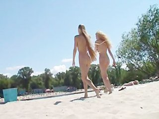 youthful nudist allies exposed jointly at the