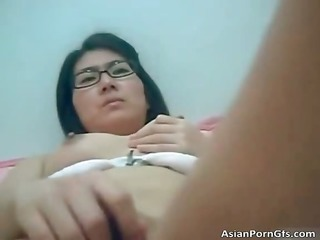 hot asian gal getting taut twat