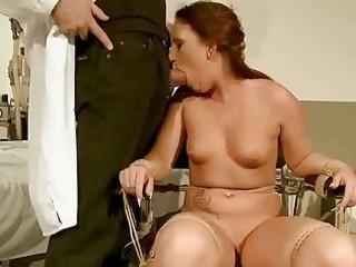 Nasty redhead gets bondaged and punished