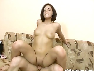 nympho brunette hair receives a lot of gap fucking