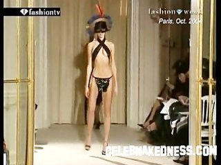 celebnakedness models undressed on the runway and