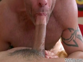 stud acquires his massive pierced jock massaged