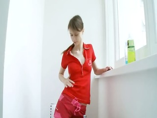 legal age teenager home alone toying her bottom