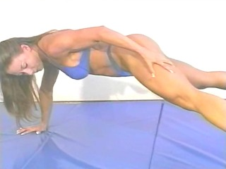 mixed wrestling with fitness model charlene rink