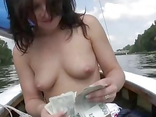 cute honey rides on a boat and screwed