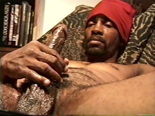 big dark dick discharges a large load -