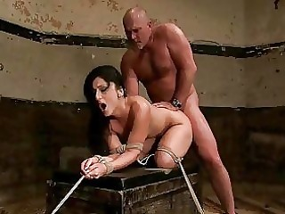 aged fellow ties hawt brunette hair and dominates