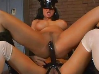 black haired lesbo cop with large breast acquires