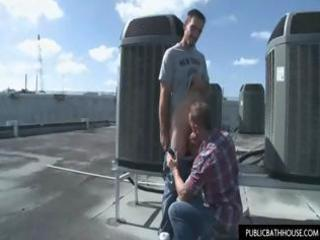 lascivious allies receive in a rooftop to fuck