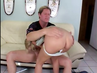 anal creampie for blond