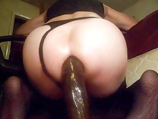 sissy lad whore brutaly pounding his a-hole into