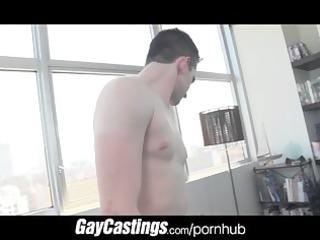 gaycastings flexable cheerleader widens his