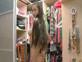 exotic legal age teenager in shoes disrobe in a