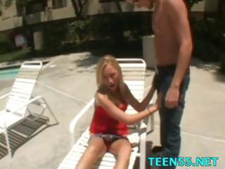 legal age teenager tries her massive jock ever
