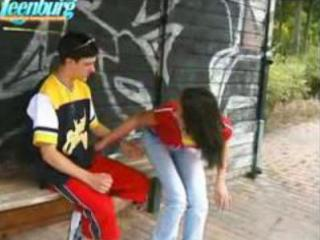 lad bonks legal age teenager hotty on bus stop