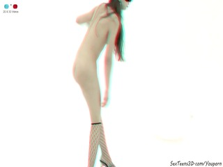 masked hotty posing and widening - 6d porn