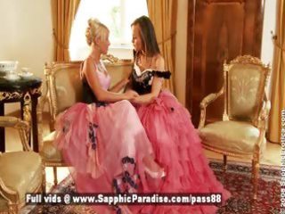 hailee and mya golden-haired and redhead lesbo