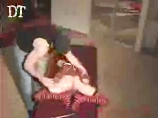 hot little redhead receives bound up and vibrated