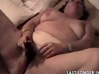 big beautiful woman granny rubbing it is nicely