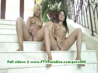 haley and hayden hawt angels toying love tunnels
