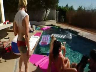 great group anal pleasure by the swimmingpool