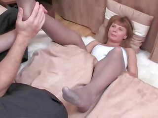 golden-haired in hose sex