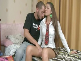 lithuanian pair fucking after school