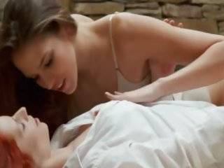 mind blowing sapphic sweethearts licking wet