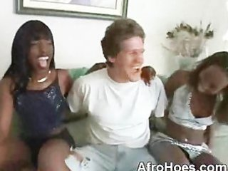 lascivious afro hoes engulfing large white dong