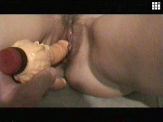 sandy doubledildo drilled