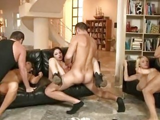 sexually excited men having group sex with sluty