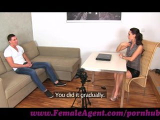 femaleagent. youthful fellow hopeless for work