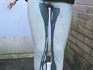 pissed her pants in public