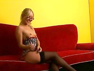 sexy booty nerdy blond legal age teenager in
