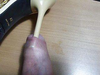 heel underneath foreskin (sexy comex sandals)