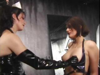 latex clad lesbos to the bondman taskmaster