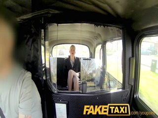 faketaxi hot business woman falls for his scam