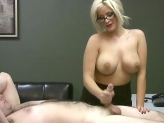 ruined orgasm in office